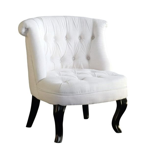 fauteuil design crapaud capitonn carrousel lin achat vente fauteuil blanc cdiscount. Black Bedroom Furniture Sets. Home Design Ideas