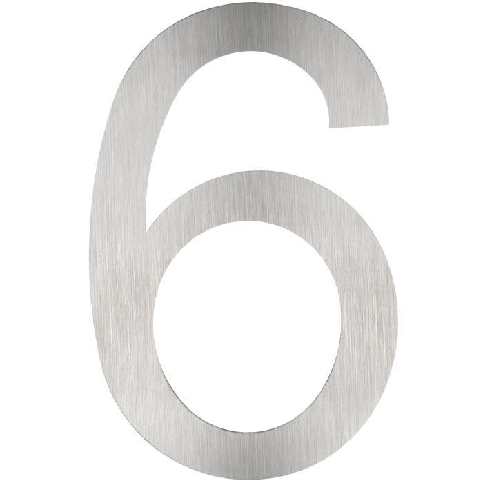 """no 6 Noir Antique Chiffres en fonte grande porte numéro 3/"""""""