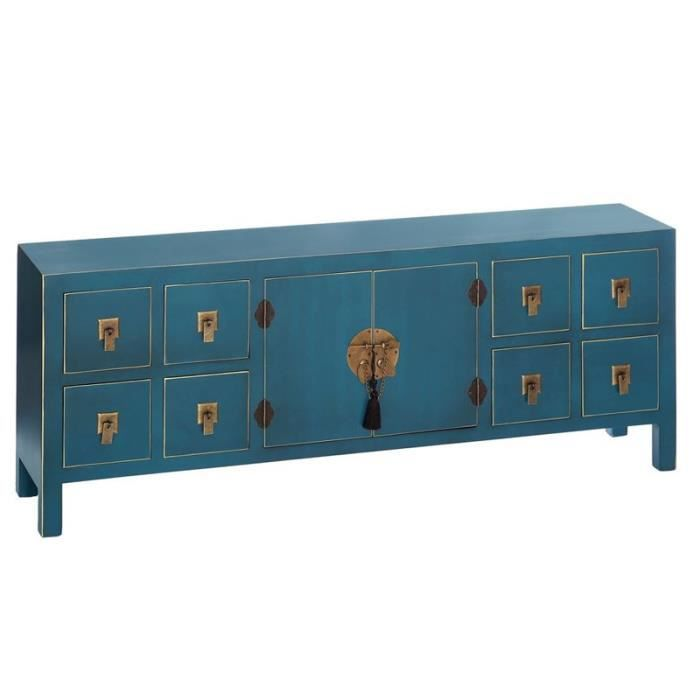 dos de canap bleu meuble chinois pekin l 130 x l 24 x. Black Bedroom Furniture Sets. Home Design Ideas