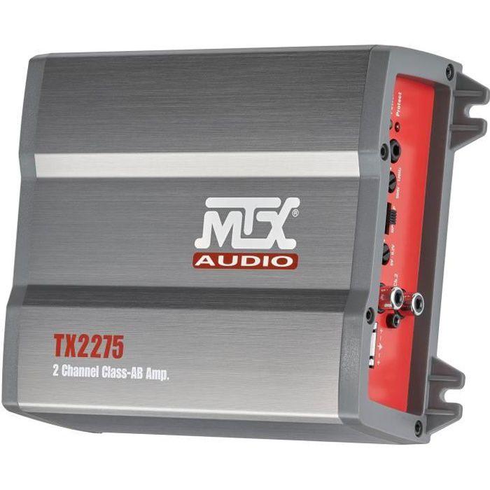 AMPLIFICATEUR AUTO MTX Amplificateur TX2275 2 x 110 W Rms @2O ou 1 x
