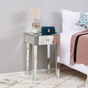 table de chevet argent design manille
