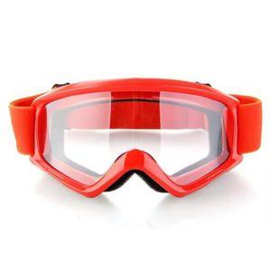 LUNETTES - MASQUE Rouge Lunettes Moto Cross Goggle Eyewear Glasses P