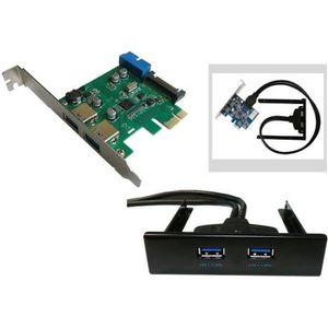 CARTE CONTROLEUR Carte PCIe USB 3.0 NEC - AVEC FACADE AVANT