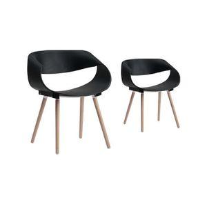chaise scandinave plastique noir