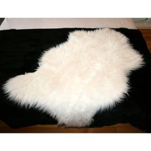 tapis peau de mouton achat vente tapis peau de mouton pas cher cdiscount. Black Bedroom Furniture Sets. Home Design Ideas