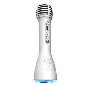 MICROPHONE - ACCESSOIRE Microphone tout en un blanc - Bluetooth et Karaoke