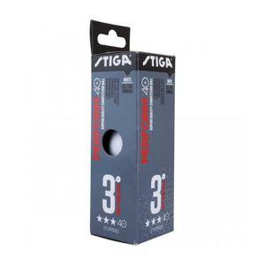 Stiga Lot de 2 balles en Plastique Perform Blanc 3 x 40 cm