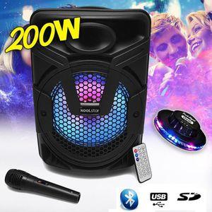 PACK SONO Enceinte karaoke autonome Mobile SONO DJ  à LED Ko