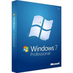SYSTÈME D'EXPLOITATION Clé de licence numérique Microsoft Windows 7 Profe