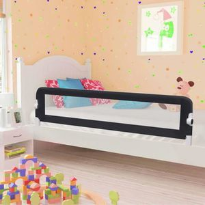 BARRIÈRE DE LIT BÉBÉ Barrière de sécurité de lit enfant Taupe 180 x 42