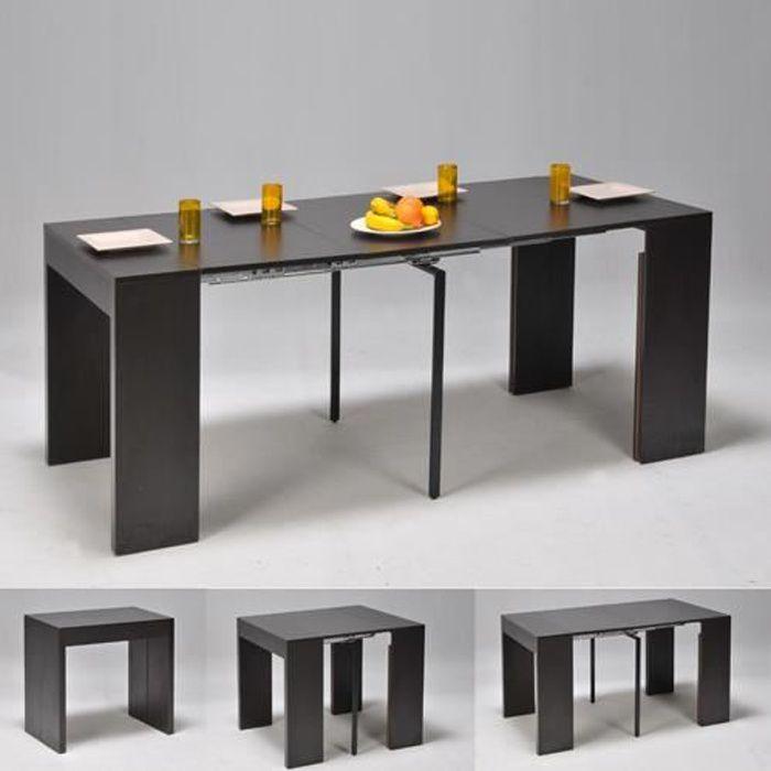 Table extensible NOVA 45-90-135-180 cm / Noir