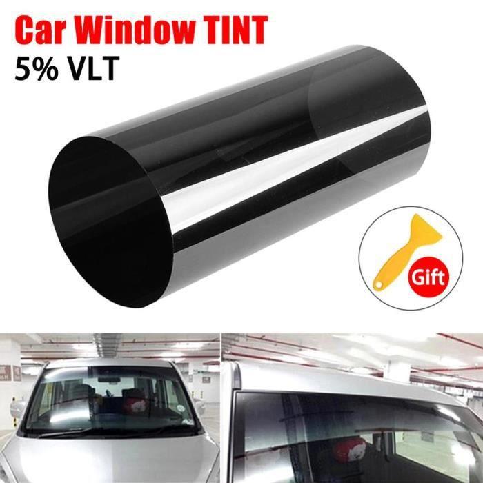 Film solaire pour pare-brise de voiture 20cm X150cm teinté en noir Film solaire transparent Anti-UV pare- - Modèle: - ANQCFSYA02594