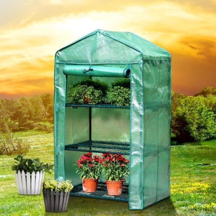 Couverture de Serre Protection Plantes Verte Jardinage Anti-gel Hiver Anti Insect 69*49*160cm Gr27686