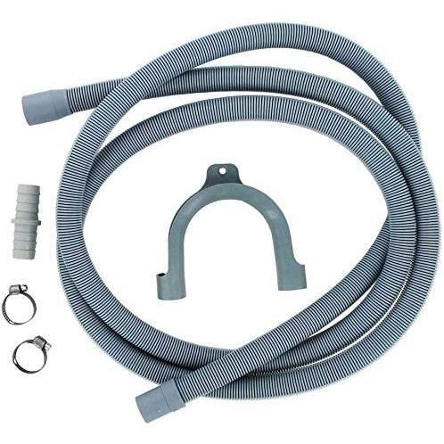 Utiz Kit d'extension de tuyau de vidange 2,5 m pour lave-linge, sèche-linge, lave-vaisselle
