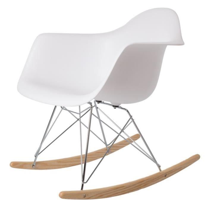 fauteuil à bascule RAR PP blanc