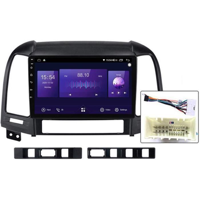 9 Pouces QLED écran Tactile Android 10 Navigation Multimédia pour Hyundai Santa Fe 2 2006-2012, RDS FM AM Autoradio Stéréo avec 274