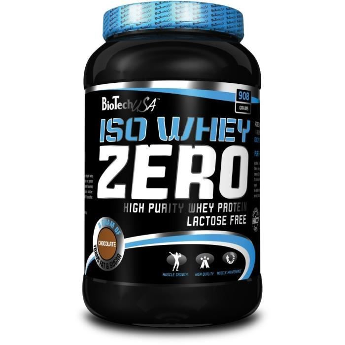 Iso Whey Zero 908g FRAISE Biotech USA Proteine