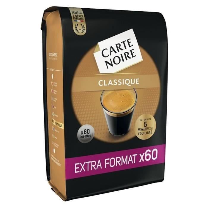 CARTE NOIRE Classique 60 Dosettes de café Compatible Senseo - 420 g