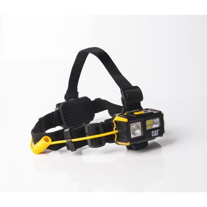 CAT CT4120, Lampe frontale, Noir, Jaune, RoHS, LED, 120 lm, 250 lm