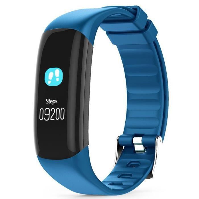 CELLYS - Bracelet connecté Bluetooth, fréquence cardiaque, suivi d'activité, notification, étanche Easyfit couleur - Bleu