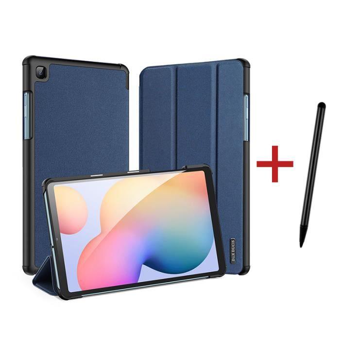 Housse Coque Étui pour Samsung Galaxy Tab S6 Lite 10.4 pouces [+stylet] Réveil/Sommeil Automatique - Bleu