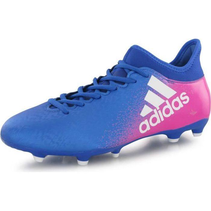 Adidas Performance X 16.3 Fg bleu, chaussures de football homme