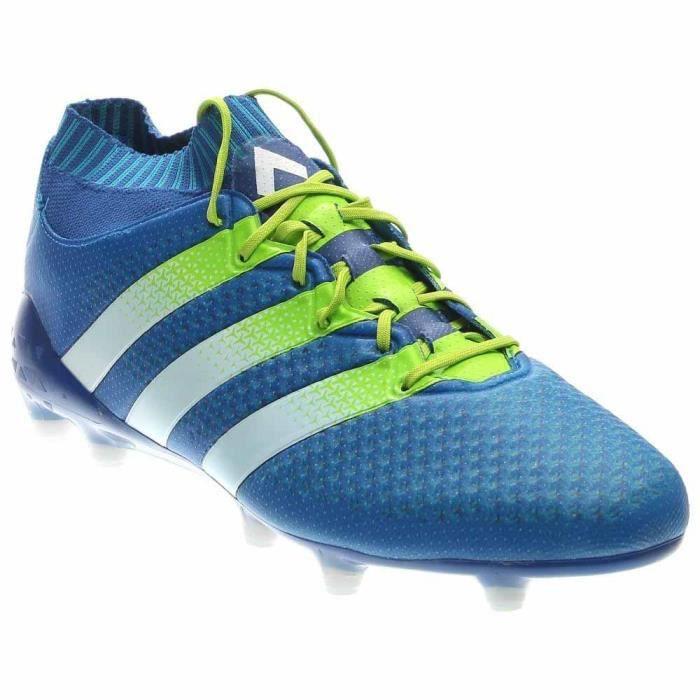 Adidas Ace 16,1 Primeknit fg - ag Crampons - Bleu EK3NE Taille-38 1-2
