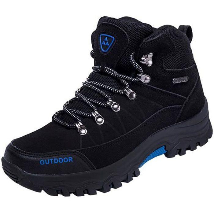 Hommes Chaussures décontractée en plein air Chaussures à lacets d'alpinisme course confortable Noir