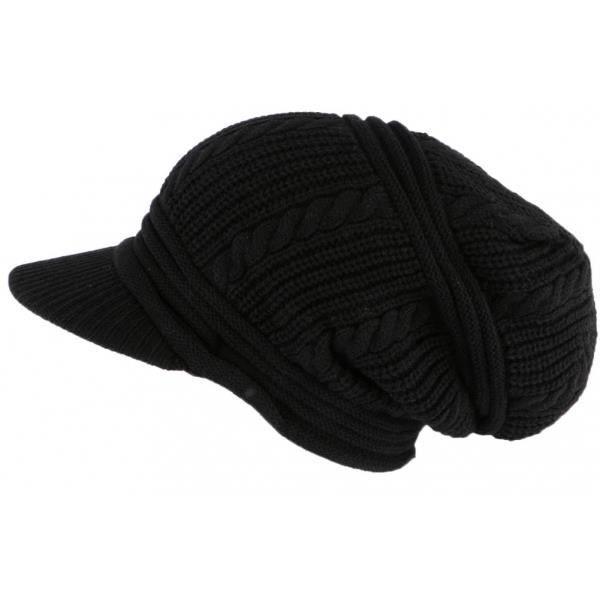 Bonnet Casquette Rasta Noir Kifty Nyls Création - Noir - Taille unique