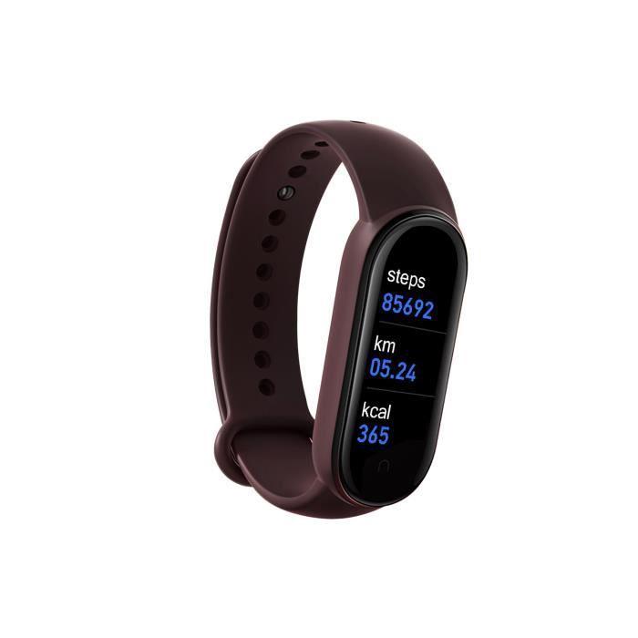 Montre de sport M6 Bracelet intelligent Montre podomètre étanche Fitness Tracker Surveillance du sommeil-Violet foncé