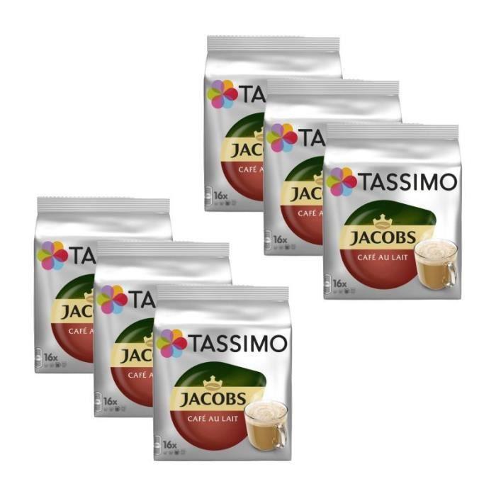 6 Tassimo Jacobs Café Au Lait