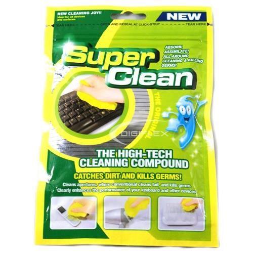 TRIXES Mastique réutilisable pour le nettoyage de la poussière de votre PC, vos mobiles et autres objets d'usage quotidien