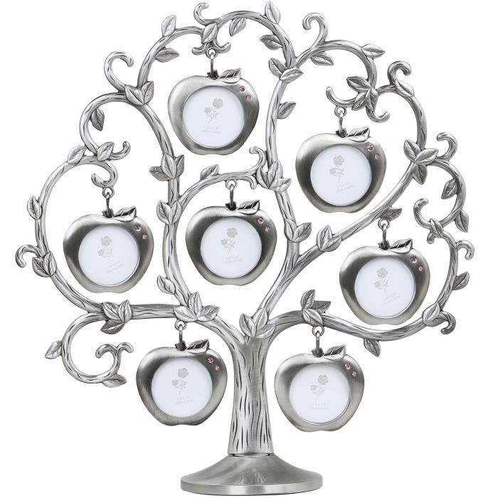 TRIXES Cadre photo Cadres Family Tree Photos Argent d'Apple Design Arbre
