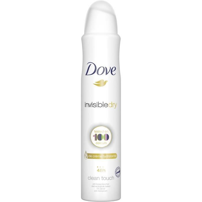 Dove Invisible Dry Déodorant Femme Spray Antibactérien 48H 200ml
