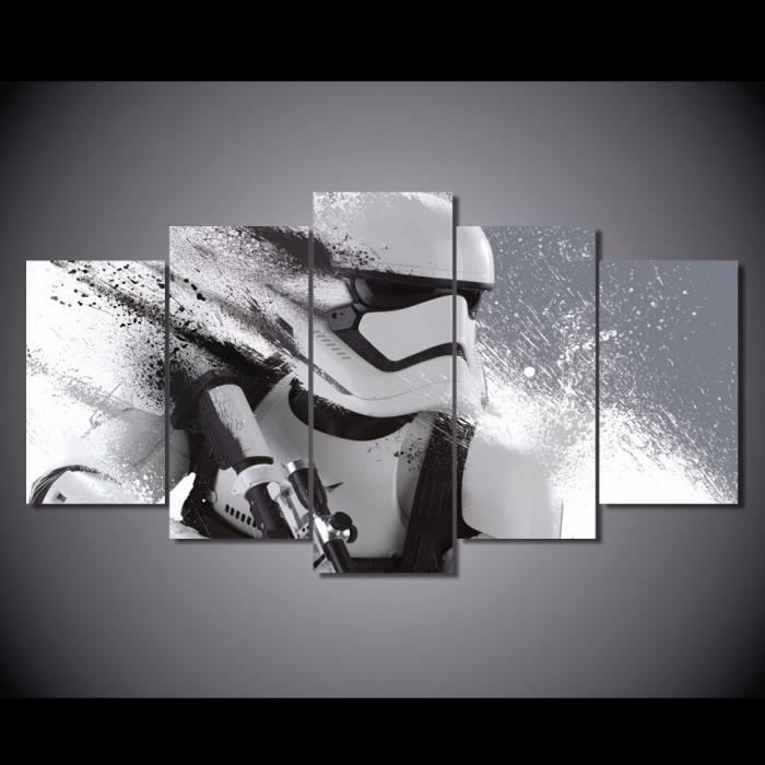 no frame tableau toile peinture 5 pi ce star wars film. Black Bedroom Furniture Sets. Home Design Ideas