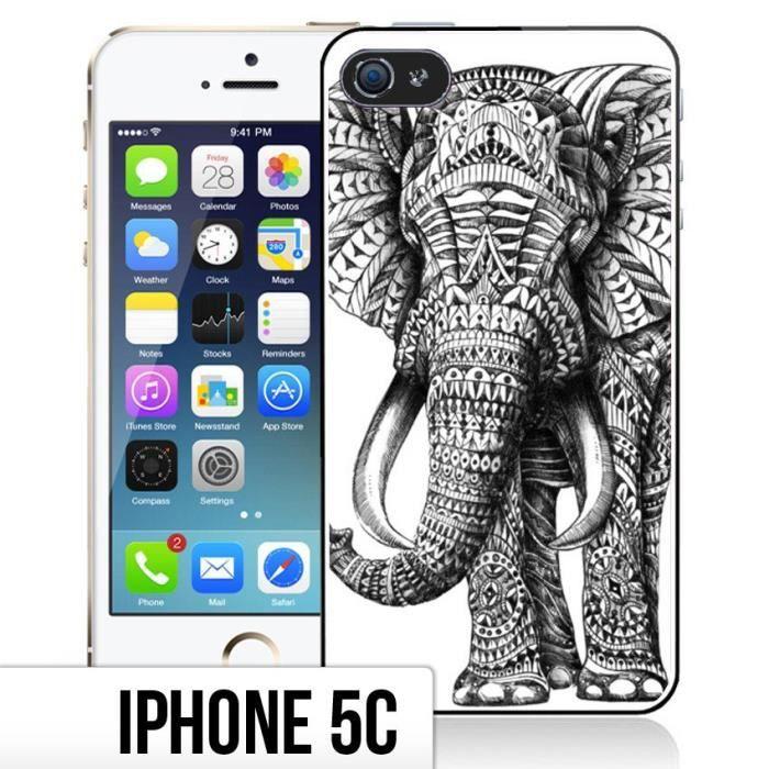 coque iphone 5c motif azteque elephant