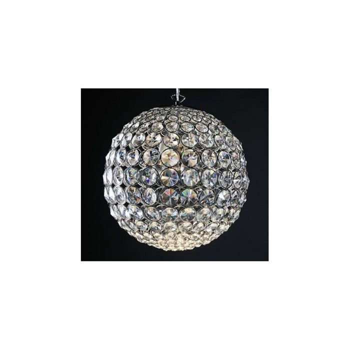 Lampe suspension design boule diamond achat vente for Suspension boule