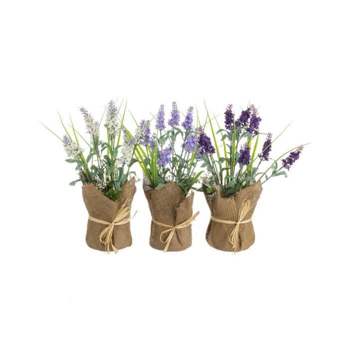 Lavande place Tapis Herbes-Bouquet sur bois 4er Set pour salle à manger