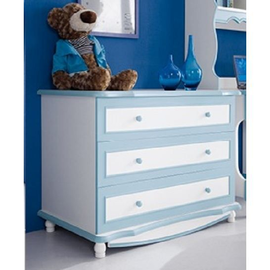 commode chambre enfant romeo bleu achat vente. Black Bedroom Furniture Sets. Home Design Ideas