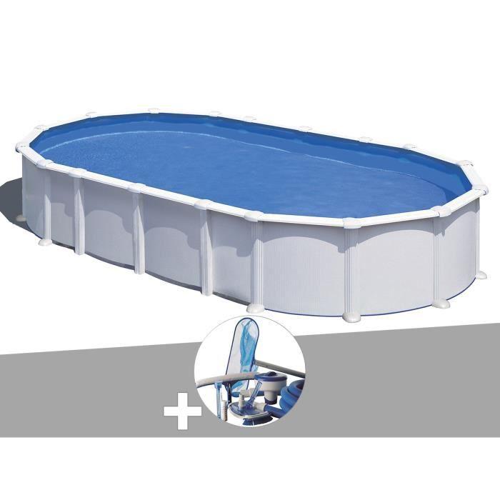 PISCINE Kit piscine acier blanc Gré Atlantis ovale 10,20 x