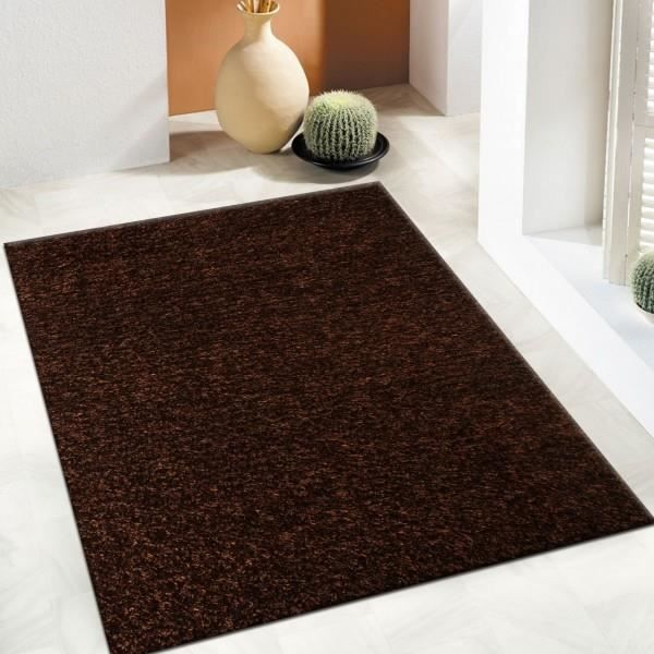 tapis shaggy marron 120 x 160 cm achat vente tapis cdiscount. Black Bedroom Furniture Sets. Home Design Ideas