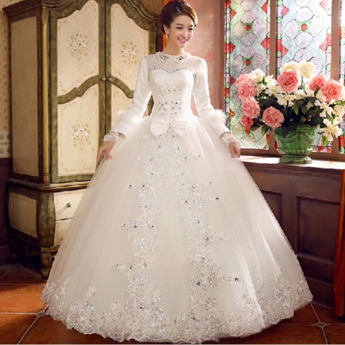 ROBE DE MARIÉE Manches longues papillon noeud robe de mariée hive