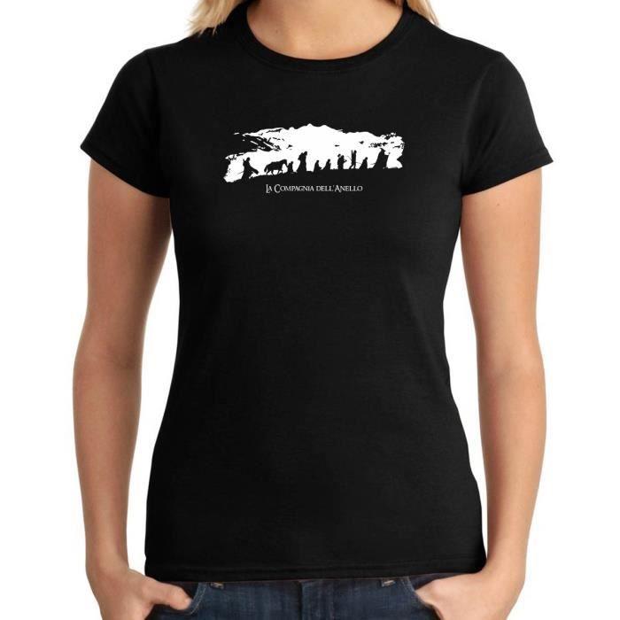 T-SHIRT T-shirt Femme T0997 la compagnia dell anello film