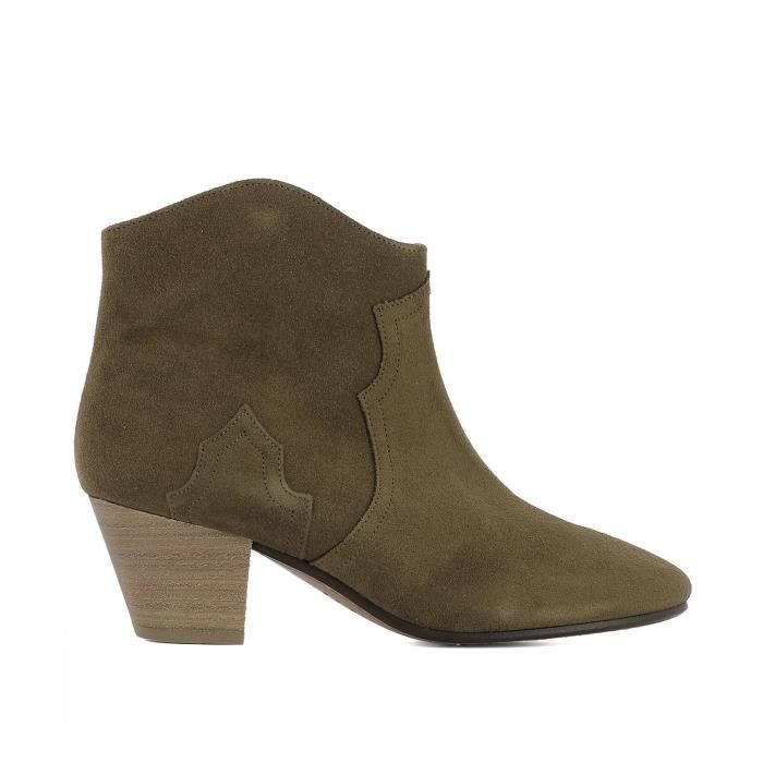 ISABEL MARANT FEMME B0010200M103S50BW MARRON SUÈDE BOTTINES