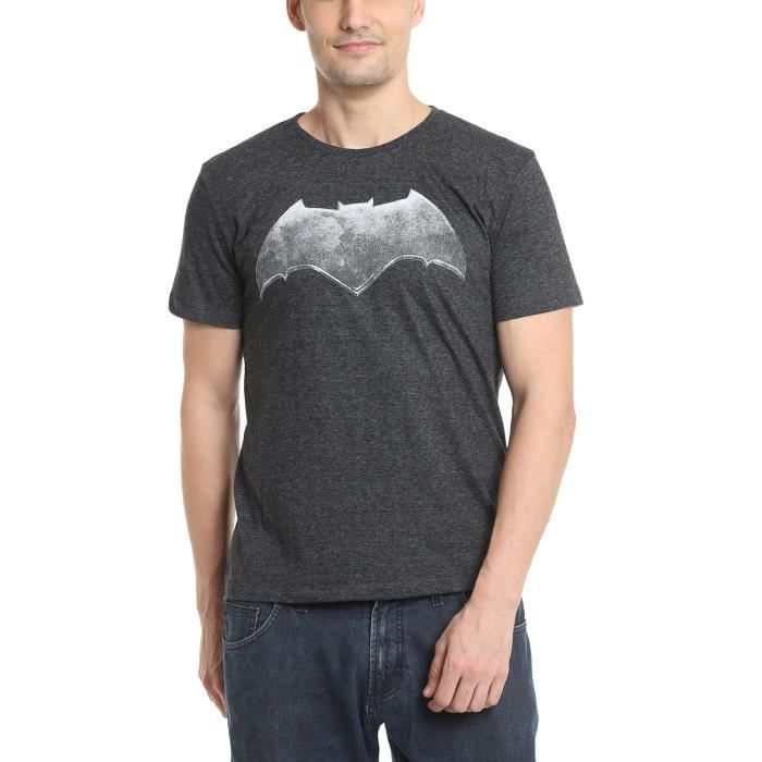 T-SHIRT Men's Batman) Anthra Melange Color Half Sleeve T-s