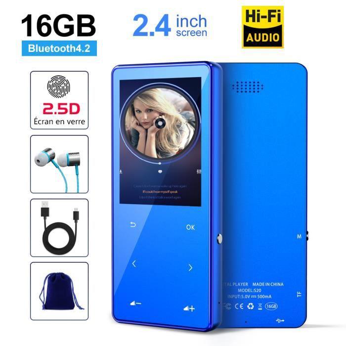 LECTEUR MP3 SUNNZO Lecteur MP3 Bluetooth,Lecture 50H,Audio San