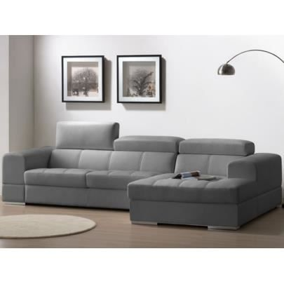 canap d 39 angle cuir xxl baldini ii gris ang achat vente canap sofa divan cuir. Black Bedroom Furniture Sets. Home Design Ideas