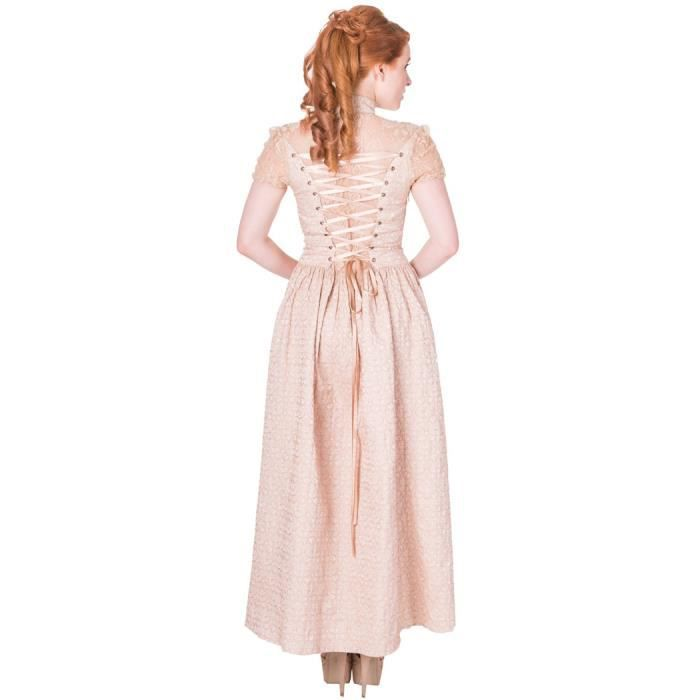 Robe longue beige steampunk longueur réglable Rise Of Dawn Banned