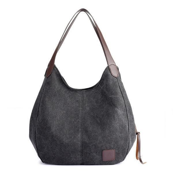 SBBKO3274Femmes Qualité Toile Three Layer Large Capacity Casual Vintage Handbag Shoulder Bag Violet