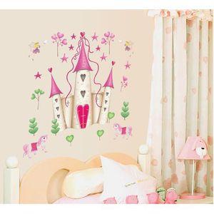 la Chambre des Enfants P/épini/ère Autocollants Amovibles ufengke/® Ch/âteau de Princesse de Dessin Anim/é Stickers Muraux